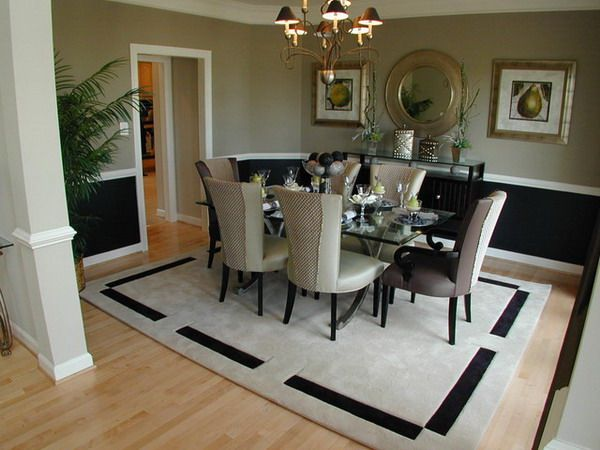 transform the whole dining room look with beauty and practical rug rh pinterest com