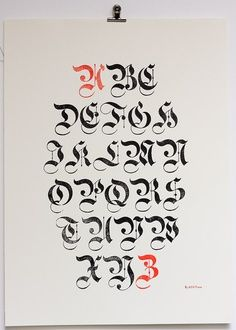 Calligraphy Black Letter Gothic Calligraphy