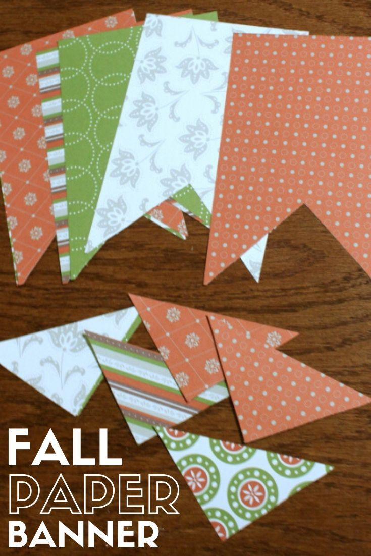 Pattern Paper Pennant Banners DIY simple pattern paper pennant banners Customize for any season theme or occasion This party decor is fun to make and looks great hanging