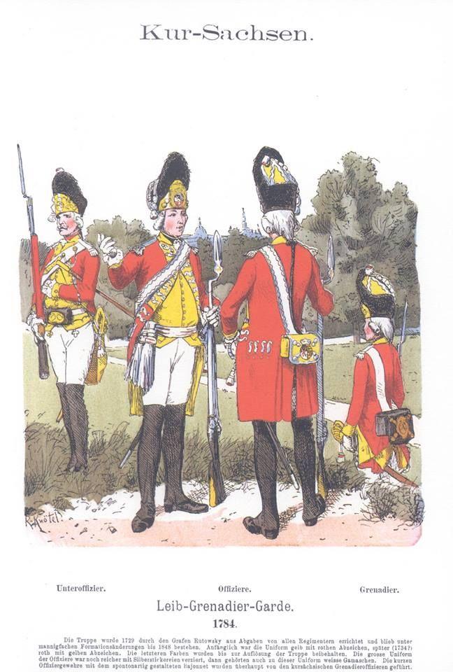 Band VIII #48.- Kur-Sachsen. Leib-Grenadier-Garde. 1784.