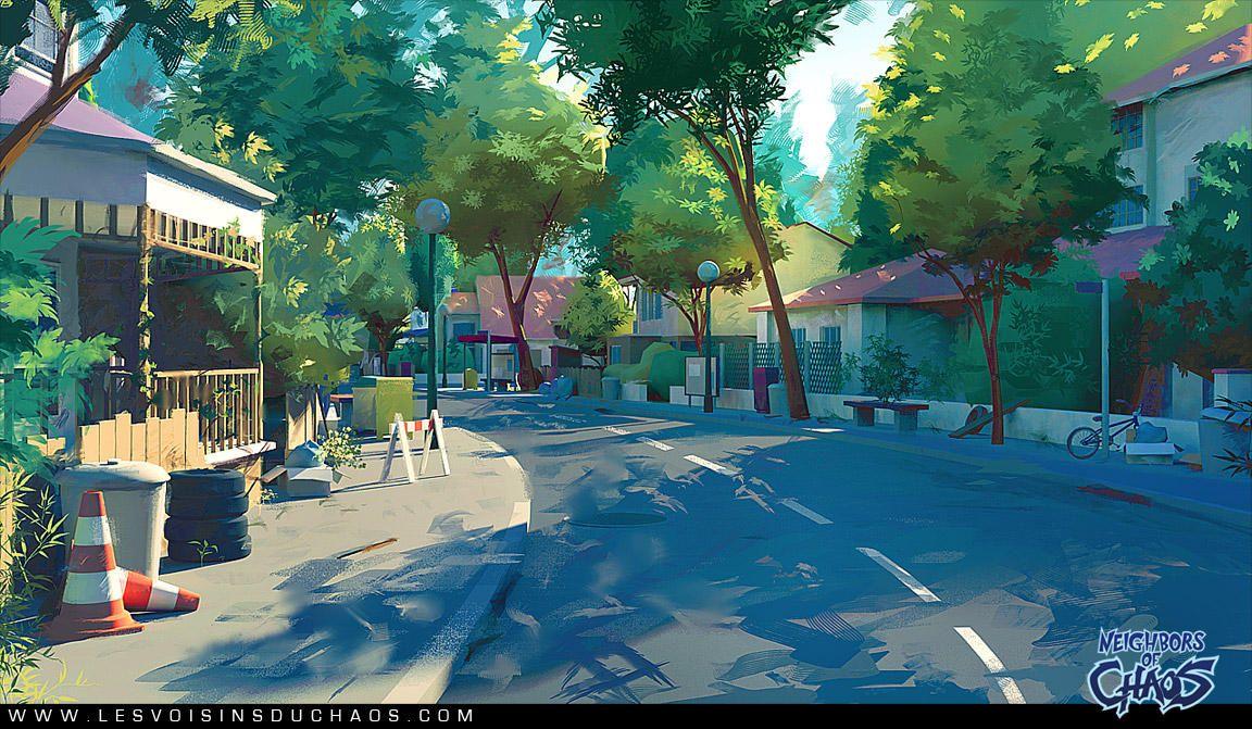 Heatown Streets By Tohad Pejzazhi Illyustracii Hudozhestvennye
