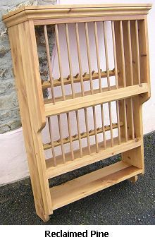 Wooden Plate Rack Wall Mounted