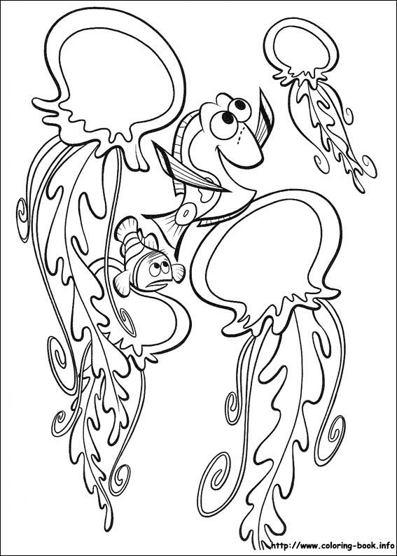 Finding Nemo coloring picture   Disney animal movies   Pinterest ...
