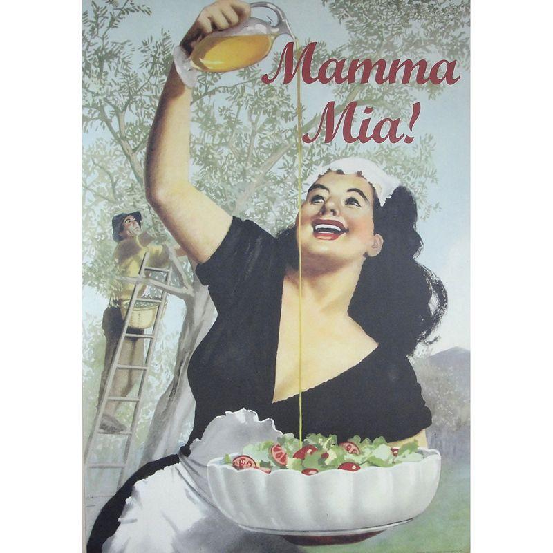 San Lorenzo Italy - Mamma Mia Vintage Olive Oil Poster