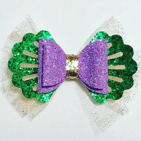 Princess Inspired Hair Bows | The Little Mermaid Hair Bow | Sleeping Beauty Hair Bow | Aladdin Hair #hairbows