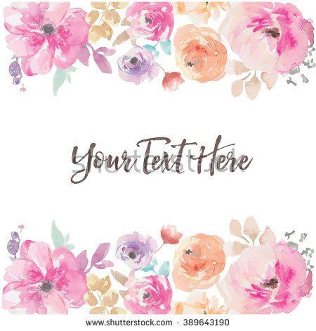 Watercolor Flower Background Vector - Shutterstock Premier | Nuevo ...