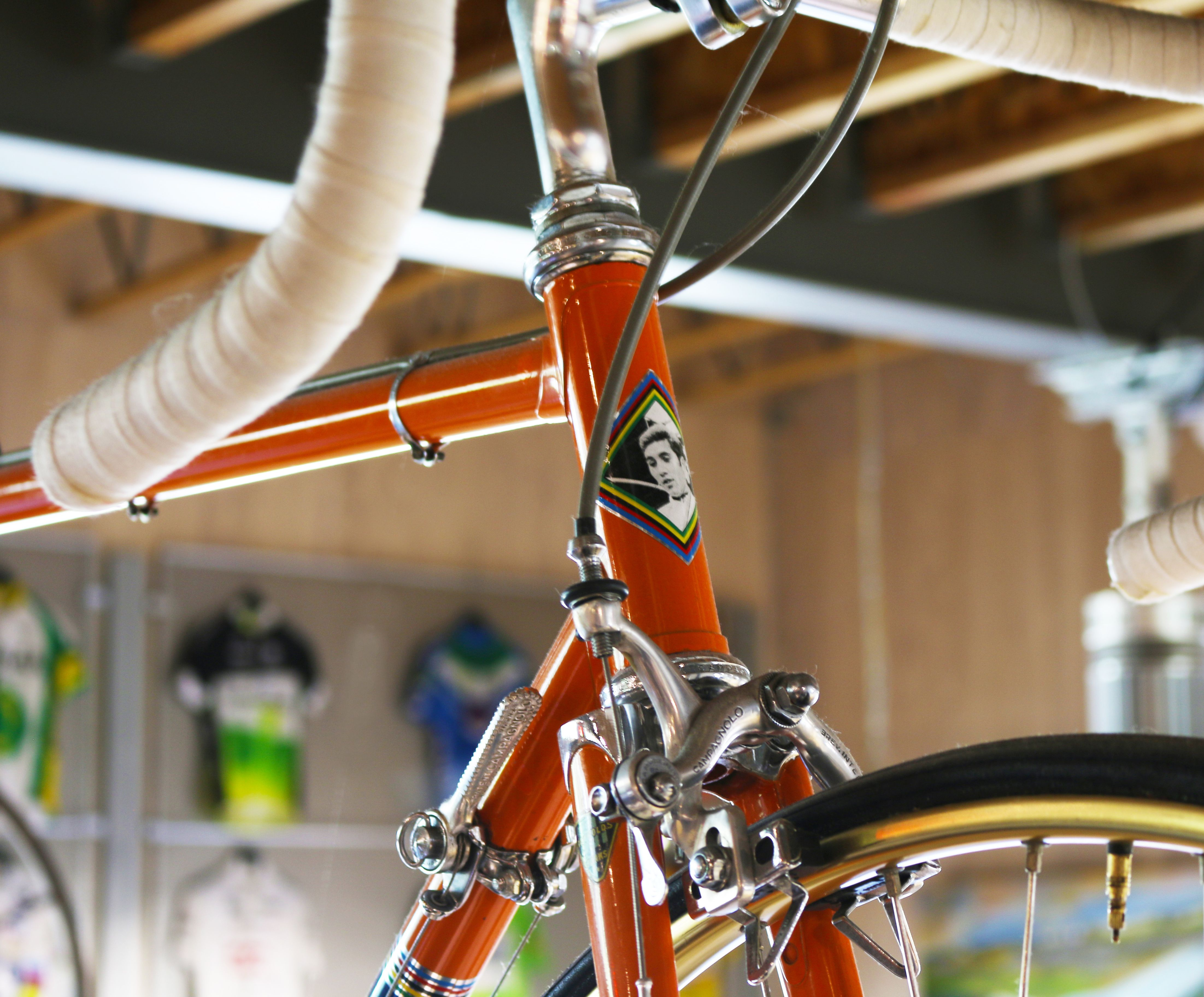 1970's Eddy Merckx Molteni team bike. The bike was actually used by a domestique on the Molteni team. Custom frame from Kessels.