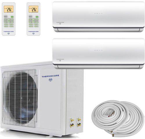 Thermocore Systems Dualzone Energy Star Ductless Minisplit Heat Pump Air Conditioner 9000btu9000btu Heat Pump Air Conditioner House System Ductless