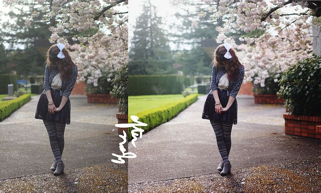 Amazing tutorial on how this blogger edits her outfit photos. Such an art!
