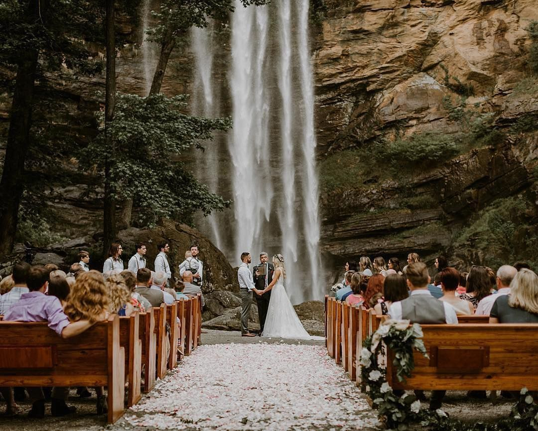 A Unique Wedding Ceremony With A Waterfall View Credi