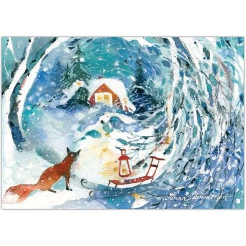 Ketunpoika -joulupostikortti