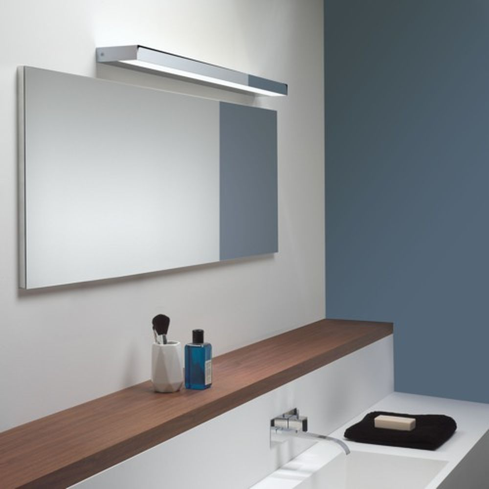 Stilvolle Led Spiegelleuchte Axios In Chrom Poliert 900 Mm Lange