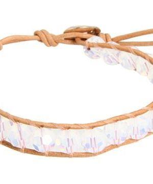 Chan Luu White Opal Crystal Single Bracelet on Beige Leather #accessories  #jewelry  #bracelets  https://www.heeyy.com/suggests/chan-luu-white-opal-crystal-single-bracelet-on-beige-leather-white-opal-beige/