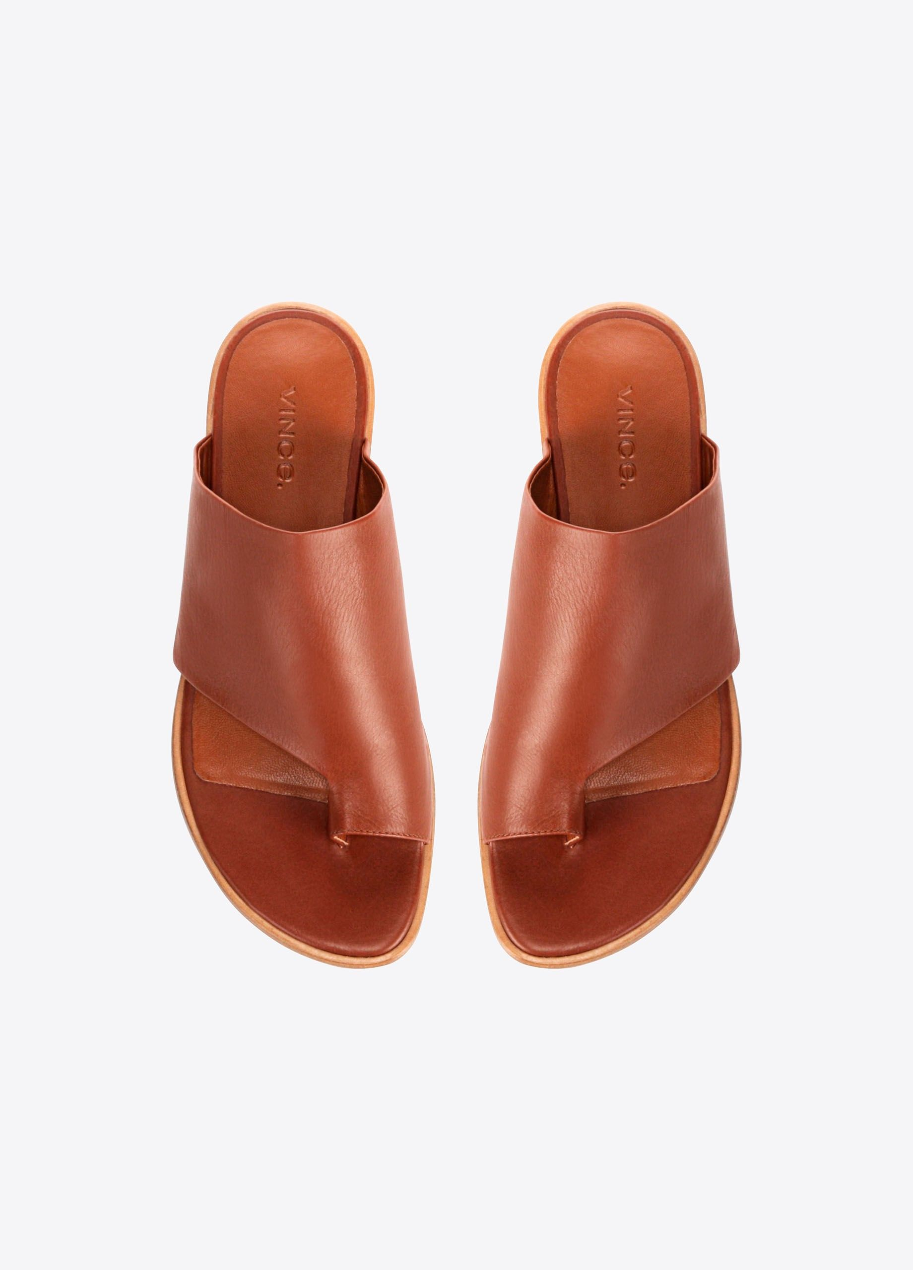 3088f5bcfd88 Edris Leather Sandals - Cognac by Vince
