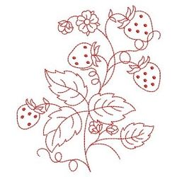 Redwork Yummy Strawberries 3 - 3 Sizes! | Redwork | Machine Embroidery Designs | SWAKembroidery.com
