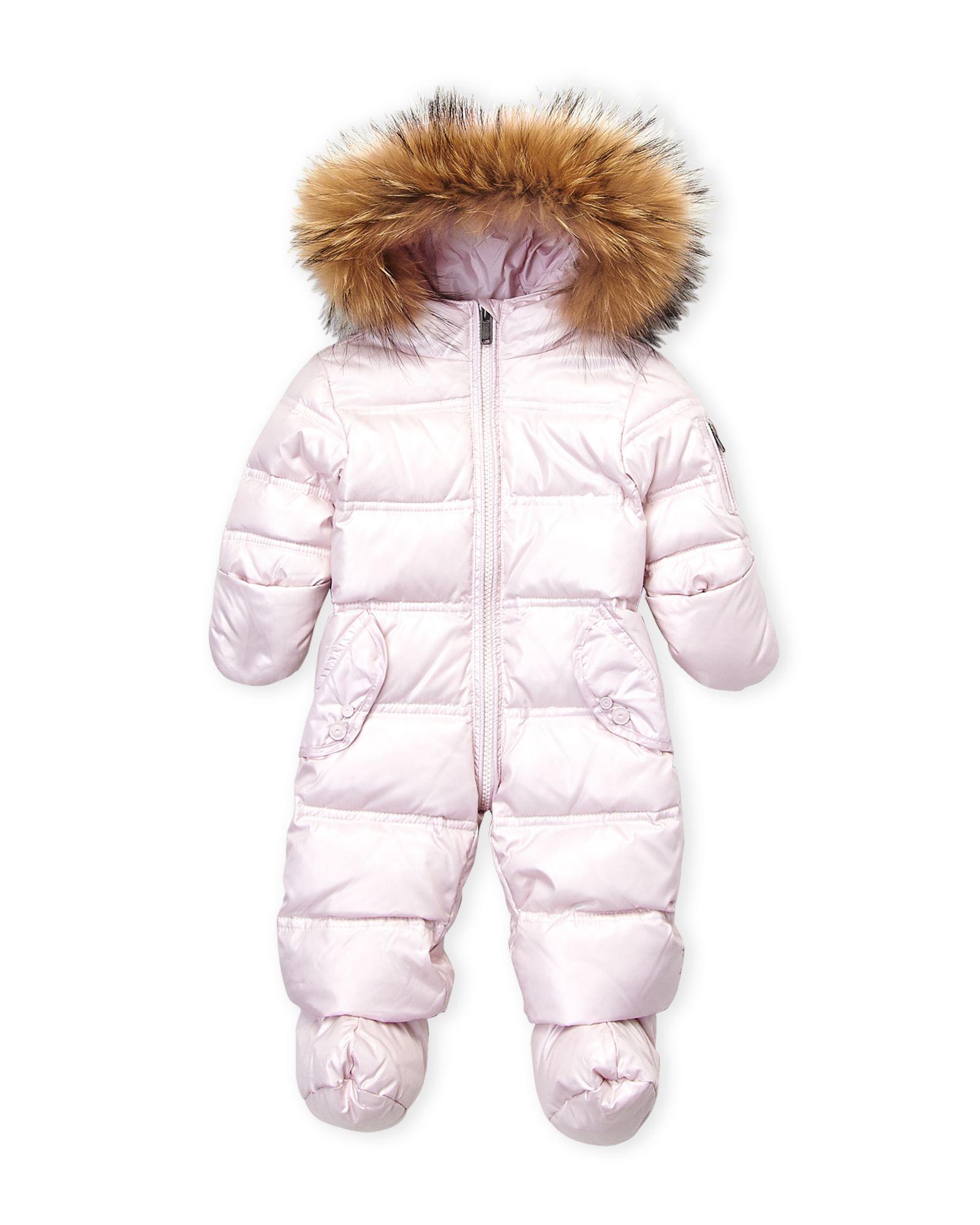 e3de3eca0 Newborn/Infant Girls) Real Fur Trim Hooded Down Snowsuit | *Apparel ...