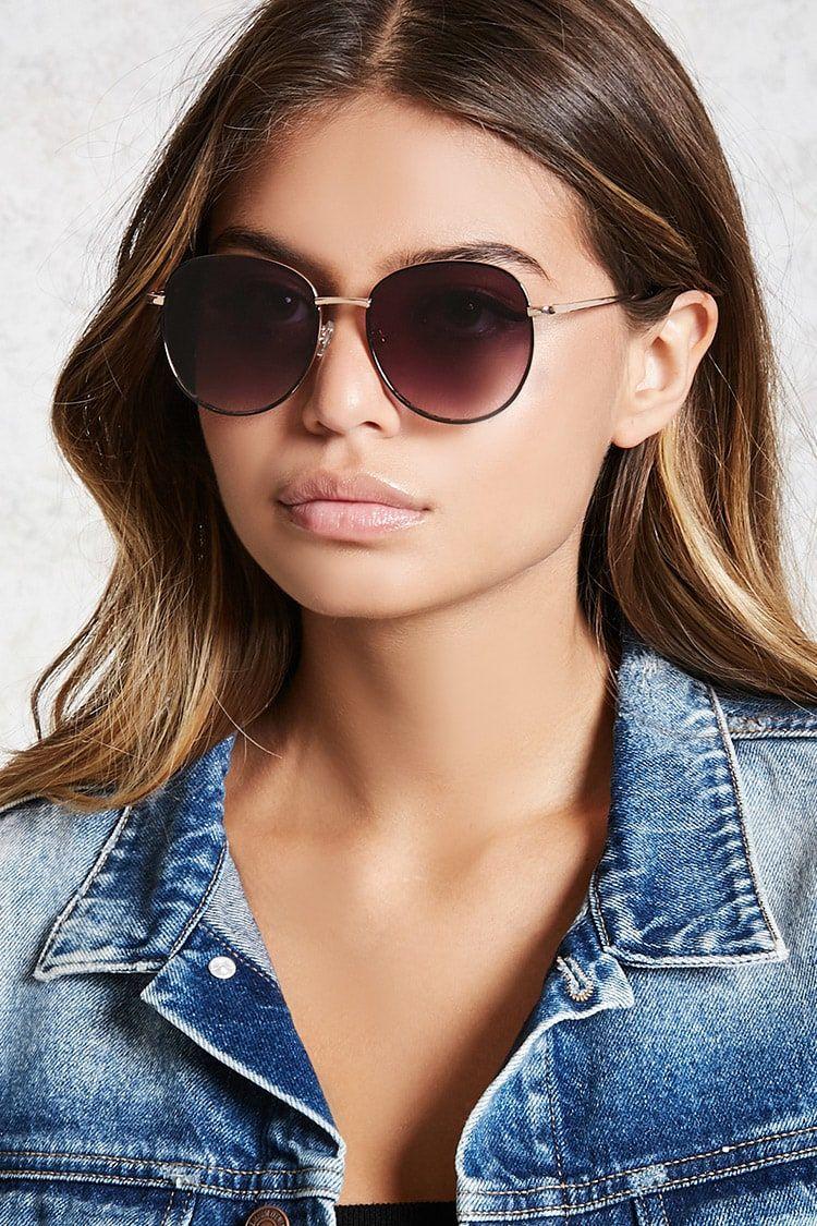 33b4020d3 Round Mirrored Sunglasses   Forever21   A C C E S O R I E S ...