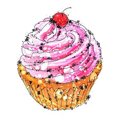 Gallery For Birthday Cupcake Illustration With Images