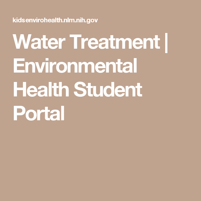 Water Treatment | Environmental Health Student Portal