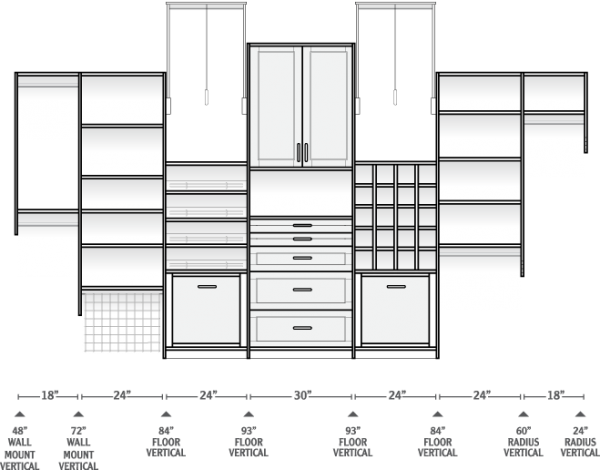 Closet Design Dimensions Google Search