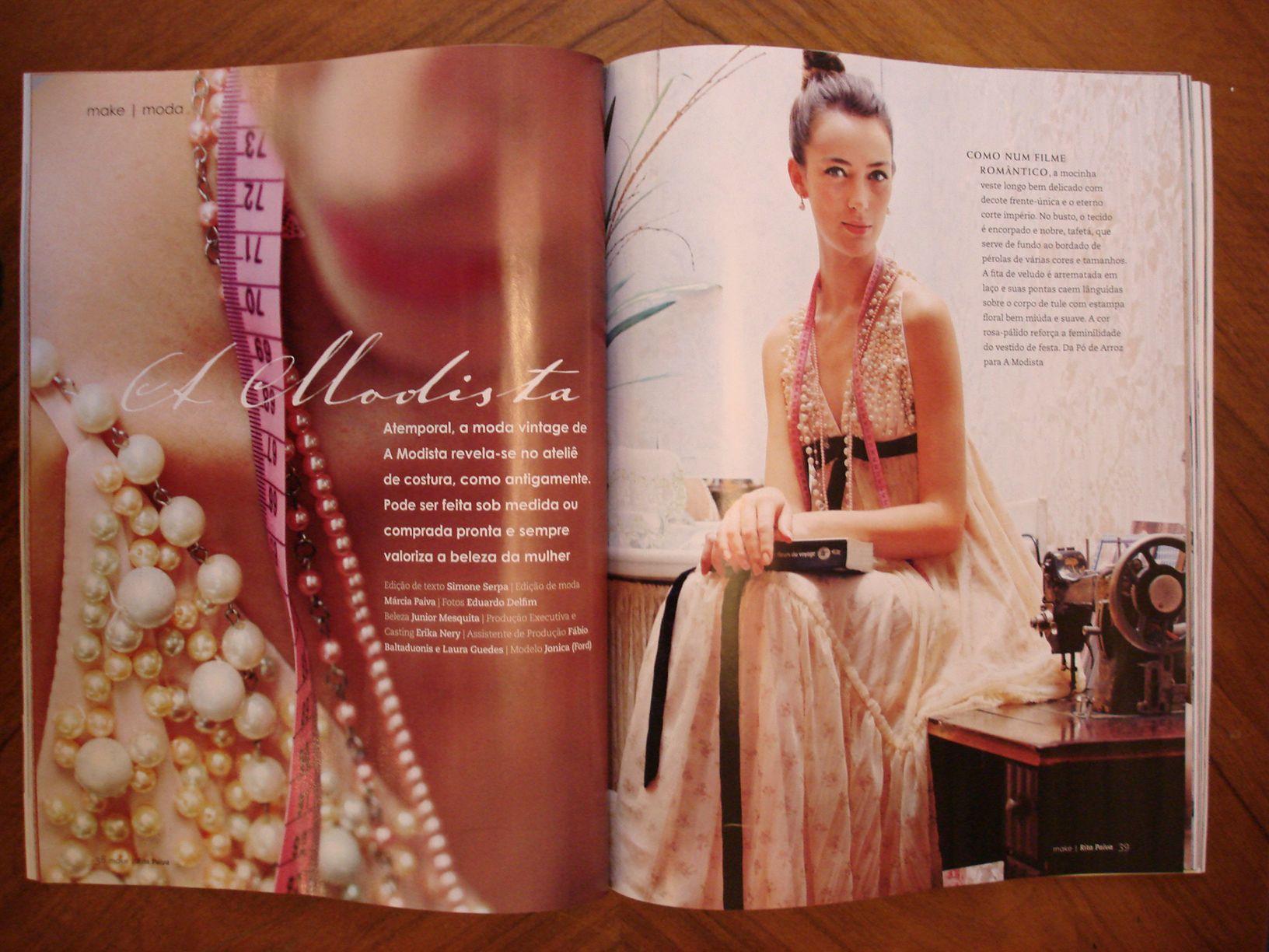 A MODISTA in Make magazine - Rita Paiva  https://www.facebook.com/www.amodista.com.br