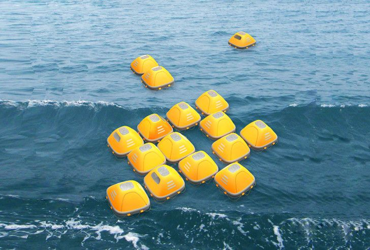 This floating survival shelter rises above floods