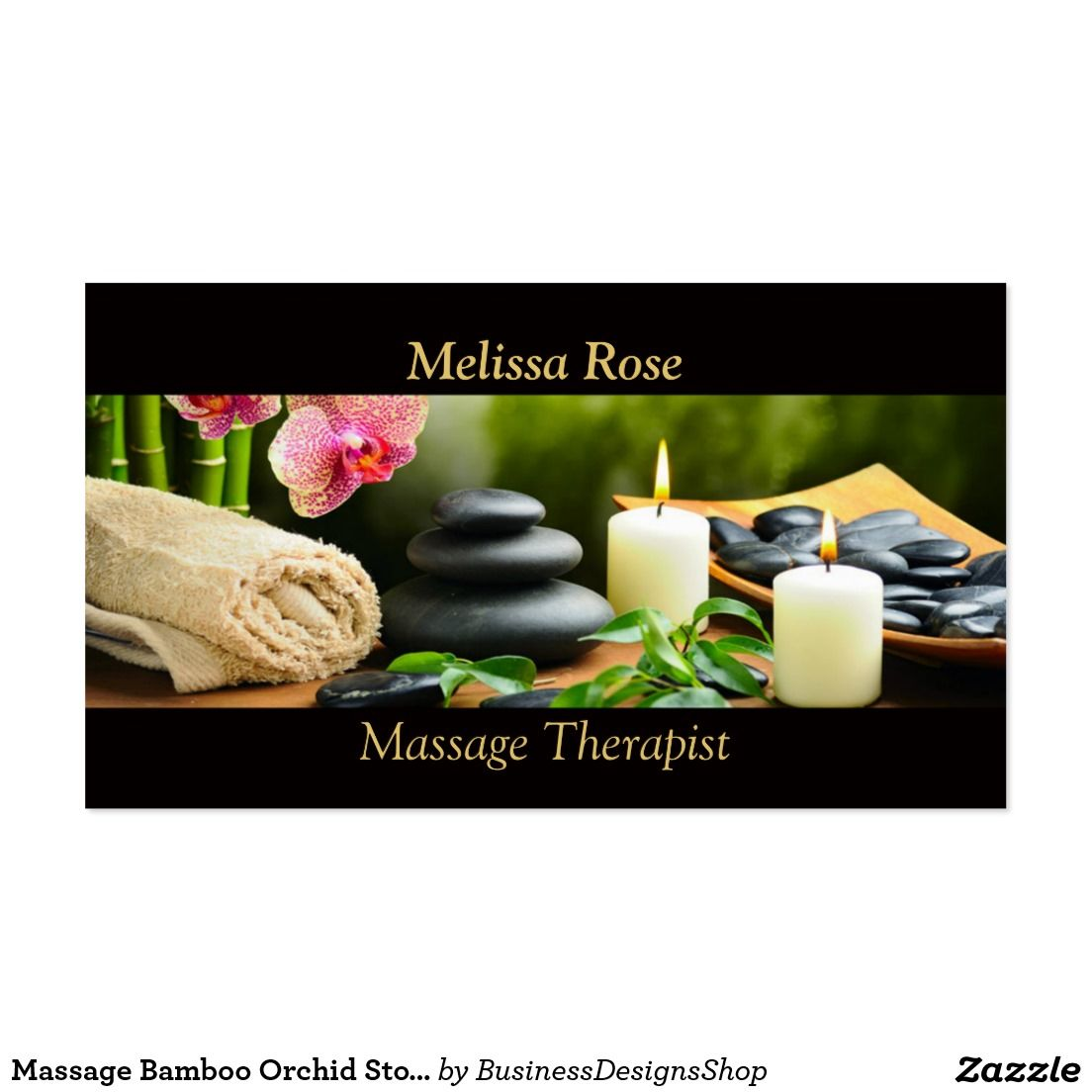 Massage bamboo orchid stones candle business card business massage bamboo orchid stones candle business card magicingreecefo Images