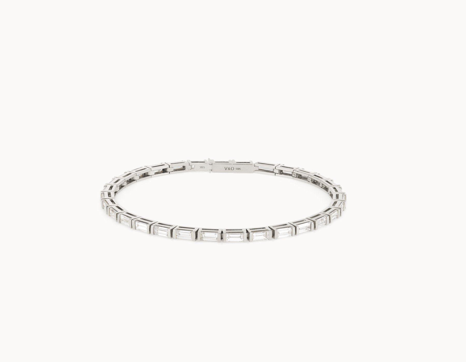 Sterling Silver Round Circle Interlock Diamond Elegant Small Big Tennis Bracelet