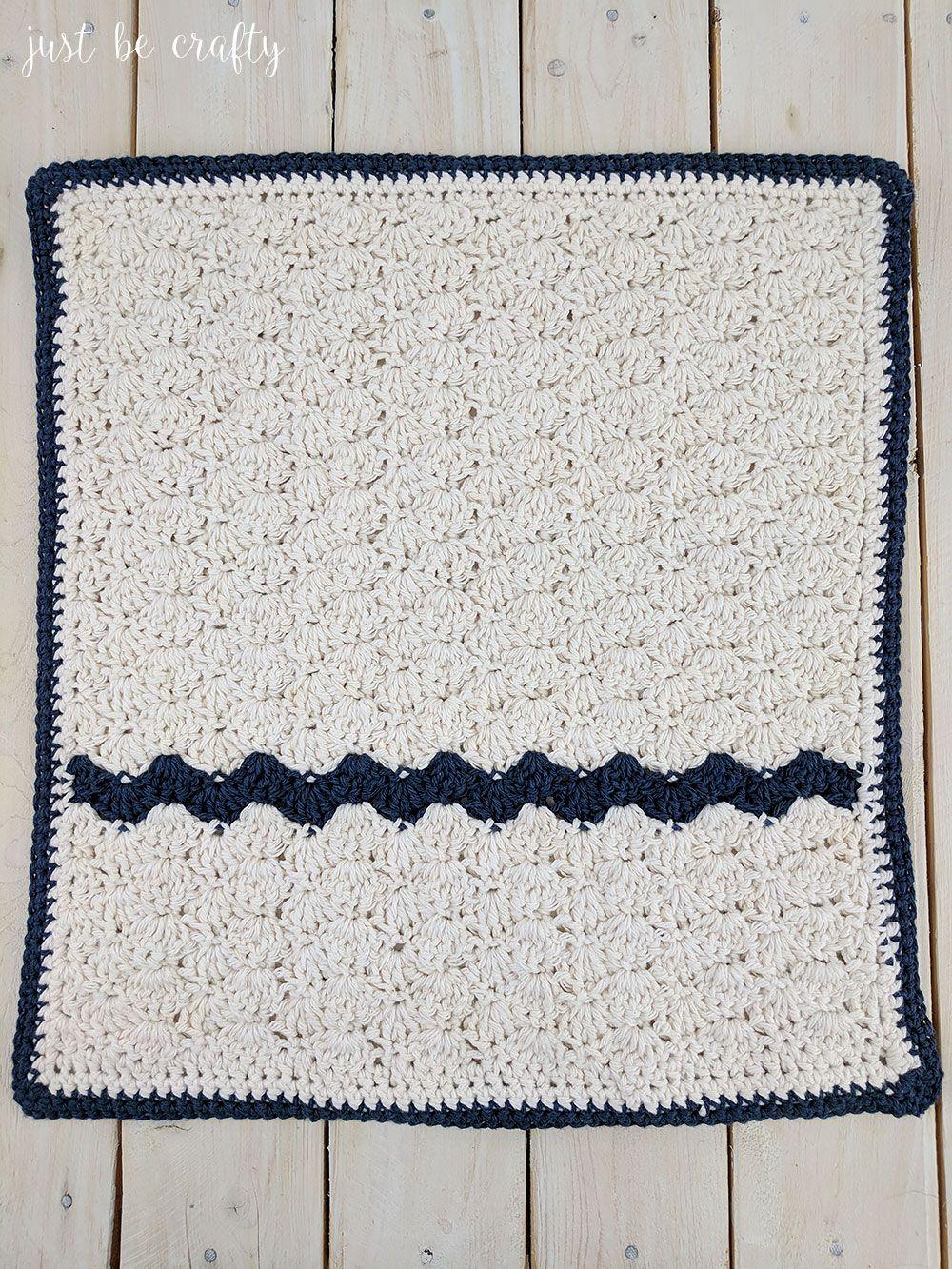 Crochet Farmhouse Table Dish Towel Pattern | Crochet