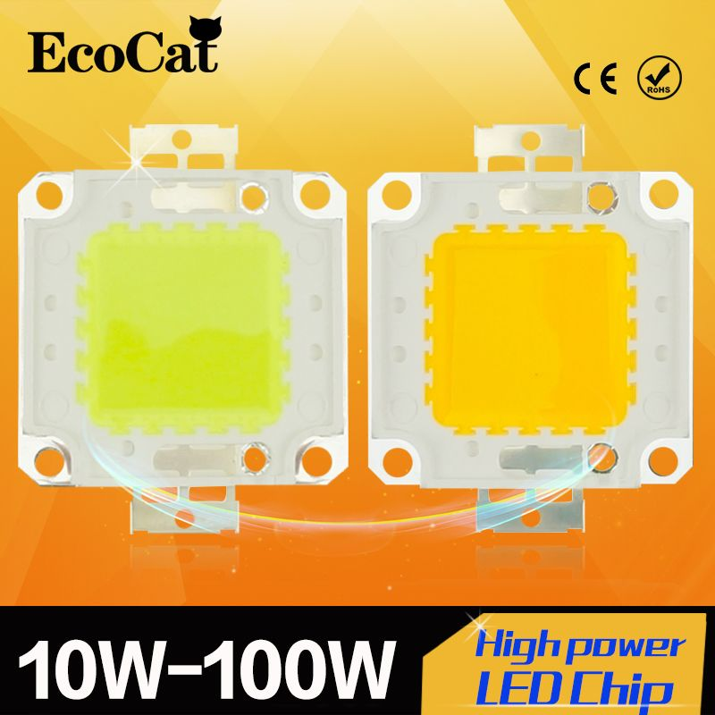 High Power Epistar Cob Led Chip 10w 20w 30w 50w 100w Dc 10v 32v Integrated Beads Smd For Floodlight Spotlight Warm Whit Epistar Higher Power Cool Things To Buy