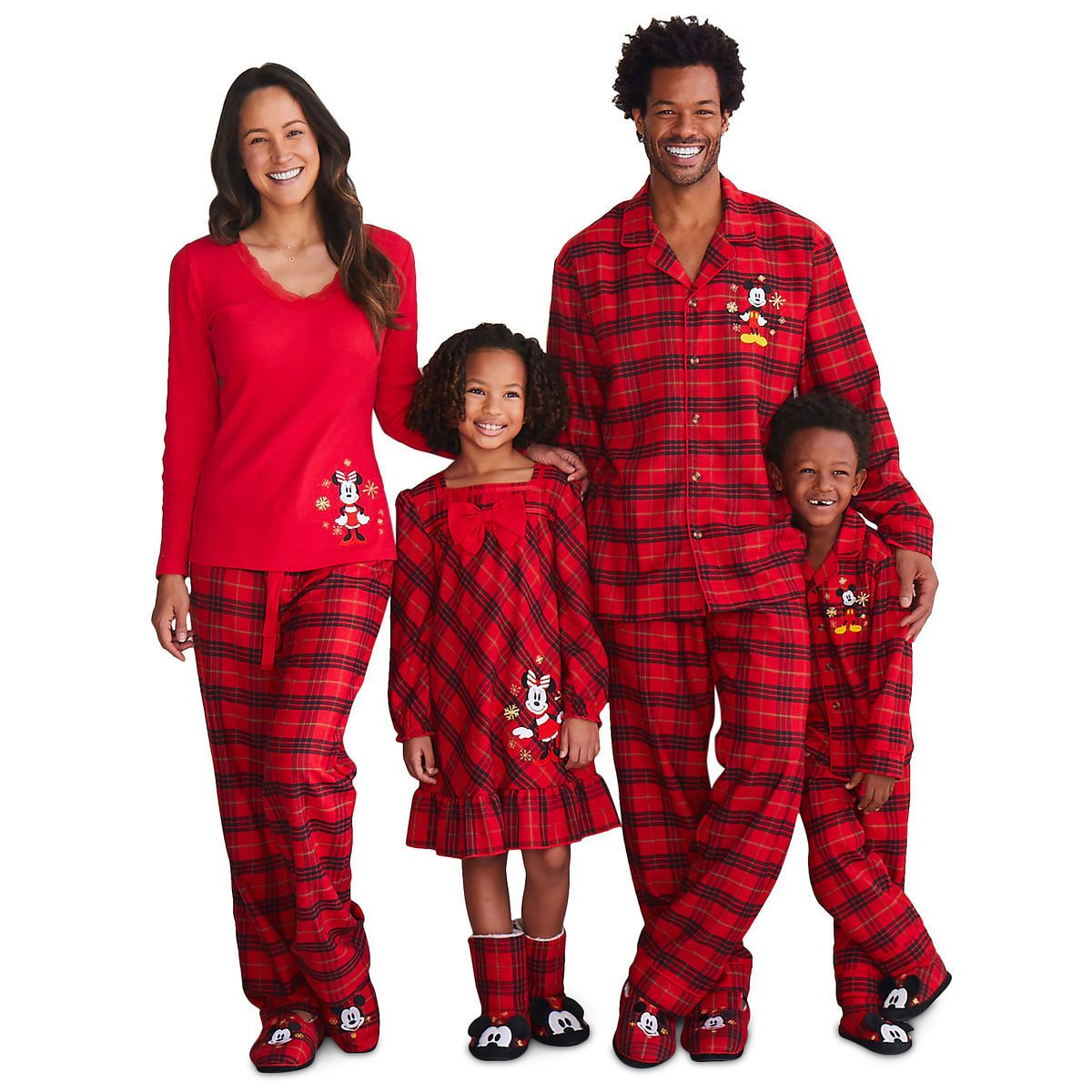 Mickey and Minnie Mouse Holiday Sleepwear for Family