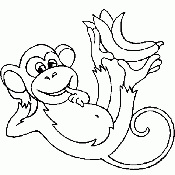 Monkey Coloring Pages Online Free Coloring Pages Trend Monkey Coloring Pages Free Coloring Pages Fish Coloring Page