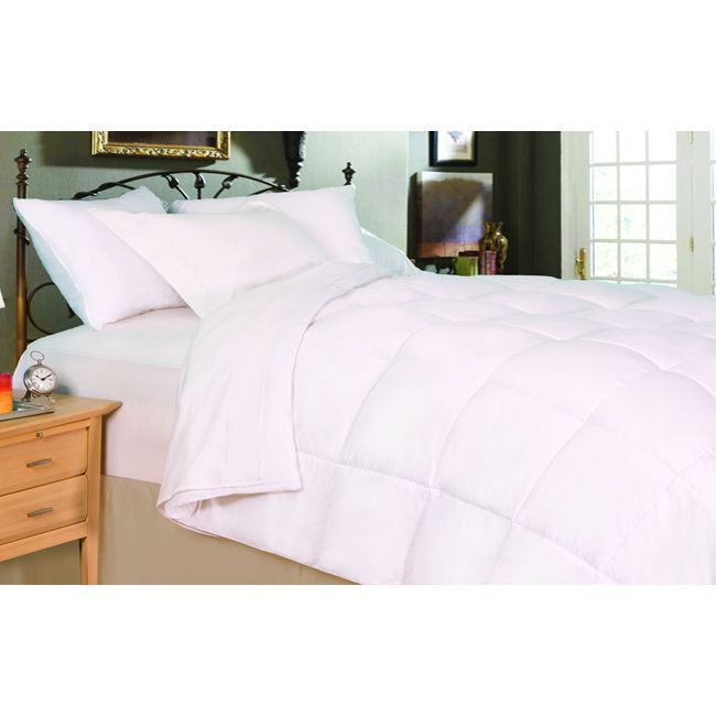 Snuggle Down Into This Oversized Down Alternative Comforter And