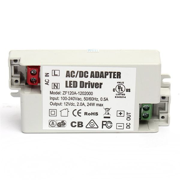 Ac Dc Adapter 24w 2a Led Driver 12v Lighting Transformers Power Supply For Led Light Lamp Lighting Accessories From Lights Lighting On Banggood Com Transformatory Svet Lamp Lampa