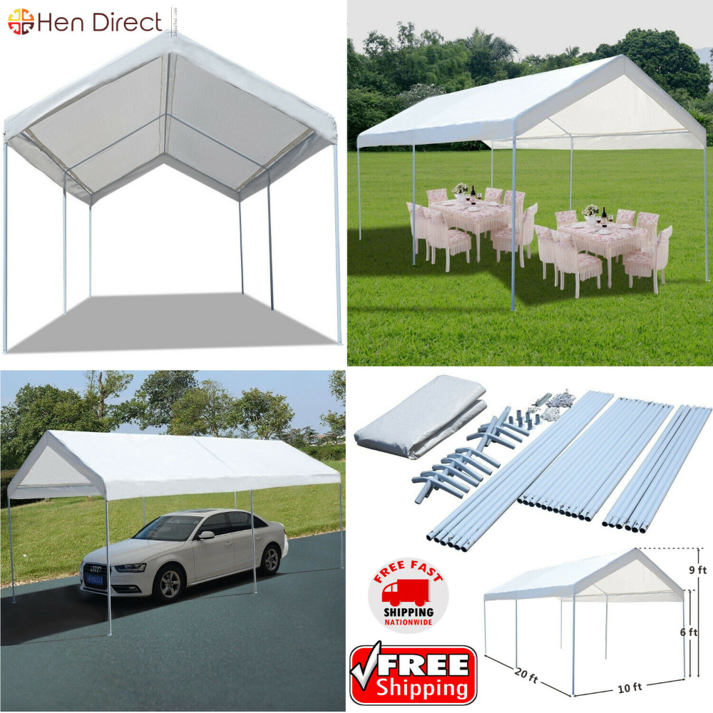Car Canopy Shelter Carport Seasonal Shade+Storage All
