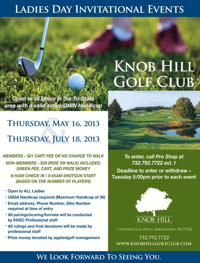golf course flyers - Google Search golf Pinterest Golf and - golf tournament brochure