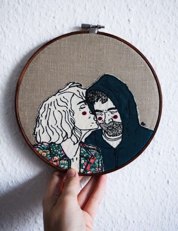 Eigene Portrat Einzigartiges Hochzeitsgeschenk Personalisiertes