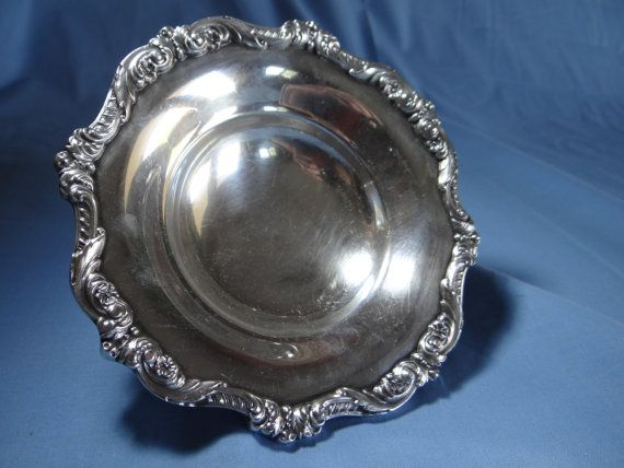 Ornate Poole Silver Co Old English Footed SP Bon by SecondWindShop, $20.00