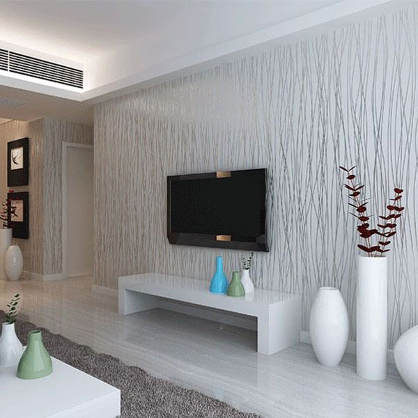 white grey wallpaper hallway - Google Search | unique walls | Pinterest | Gray wallpaper ...