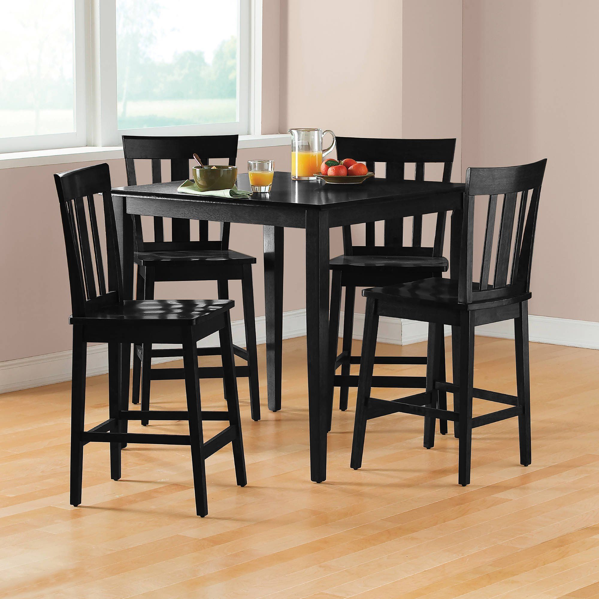 Mainstays 5 Piece Mission Counter Height Dining Set Walmart Com In 2020 Dining Room Sets Counter Height Dining Sets Dining Table Setting