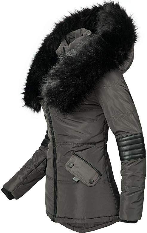 Navahoo Damen Winter Stepp Jacke warme Winterjacke Teddyfell gefüttert B355