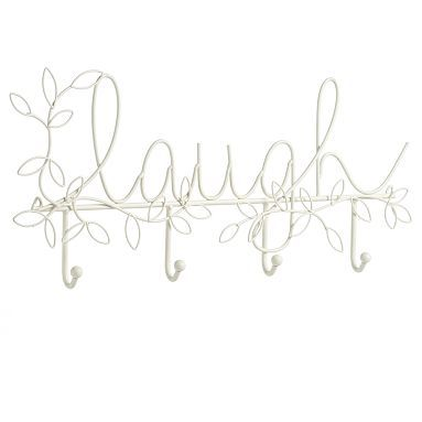 "I love the Wire Word Hook, White, ""Laugh"" on pbteen.com"