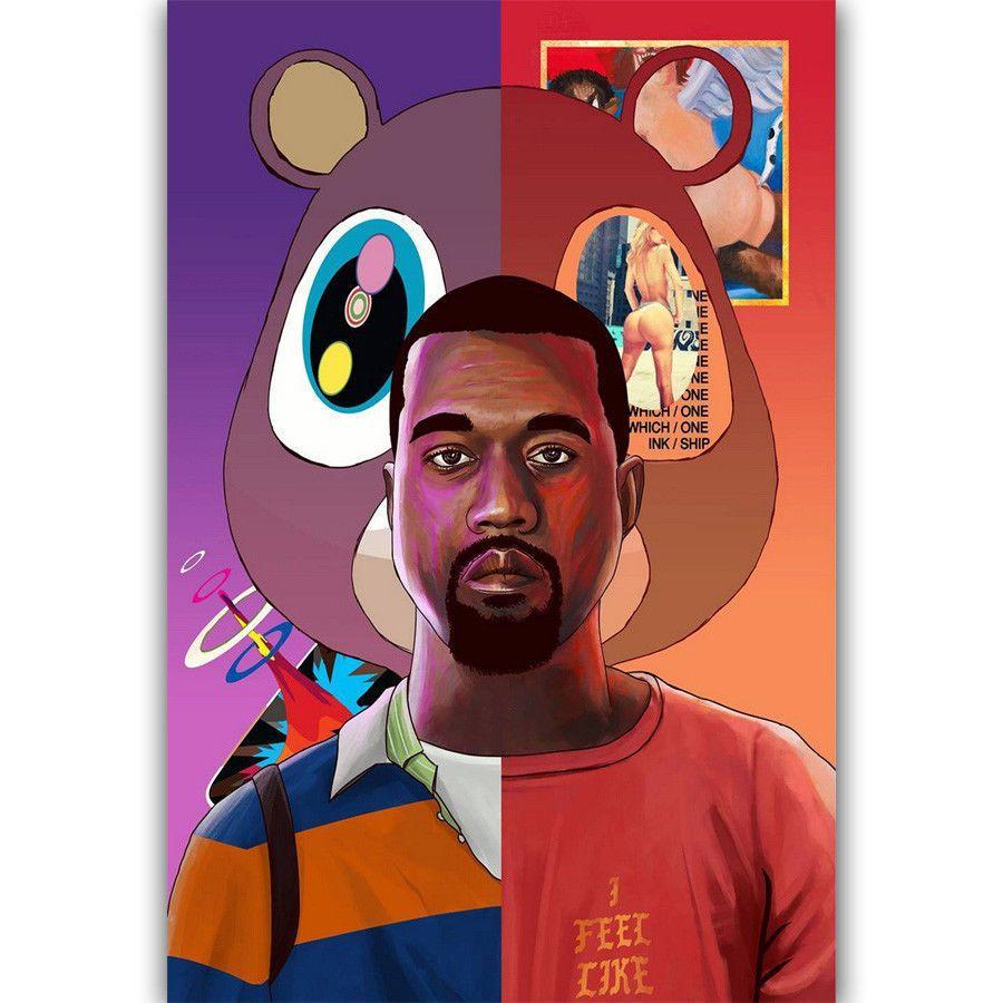 "Hip Hop music poster 24 x 36 /""  print Kanye West rap"