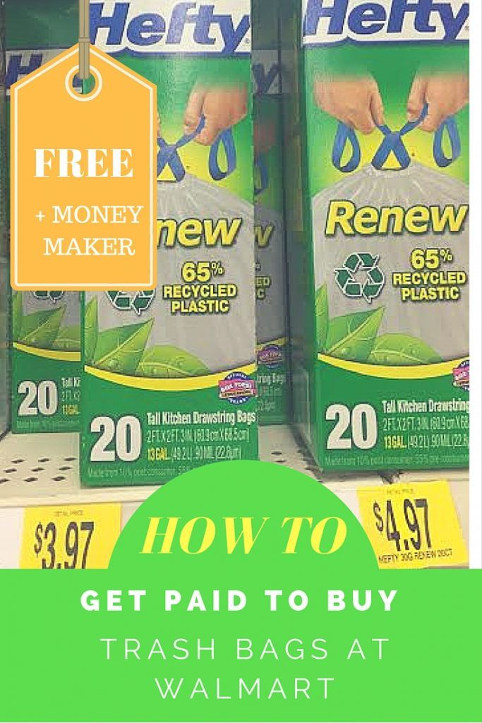 image relating to Renew Life Coupon Printable named No cost Significant Trash Baggage + $5 Monetary Company at Walmart House