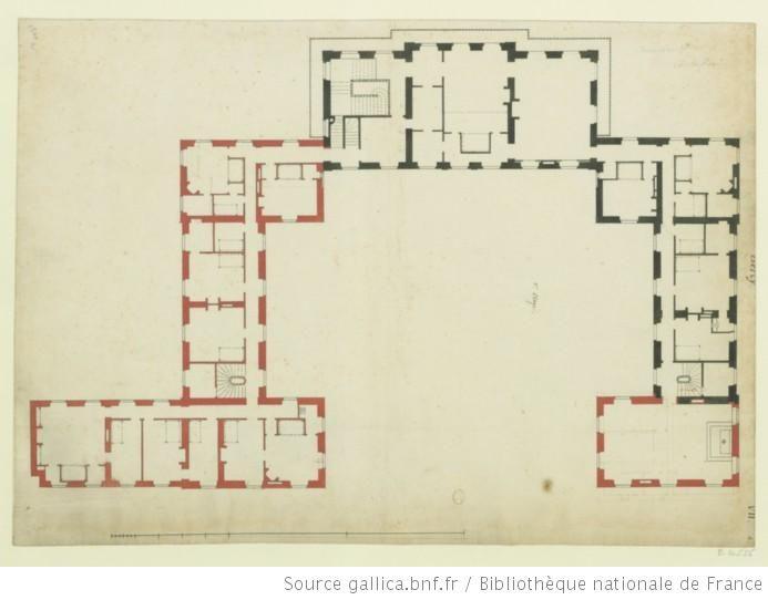 Maison de M le Controleur de Bercy  plan du premier étage de la - plan maison etage m