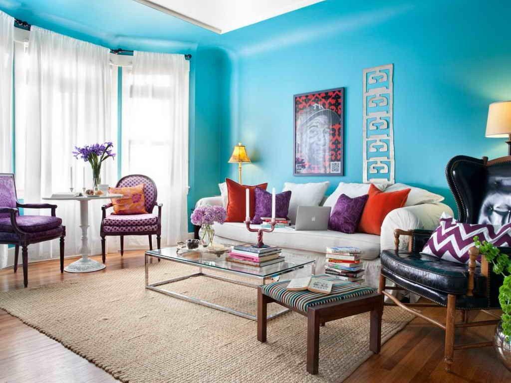 salones pequeños azul | Decoración salones | Pinterest