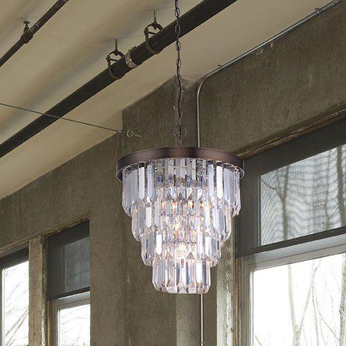 Kester 4-Light Crystal Chandelier #birchlane | lighting | Pinterest ...