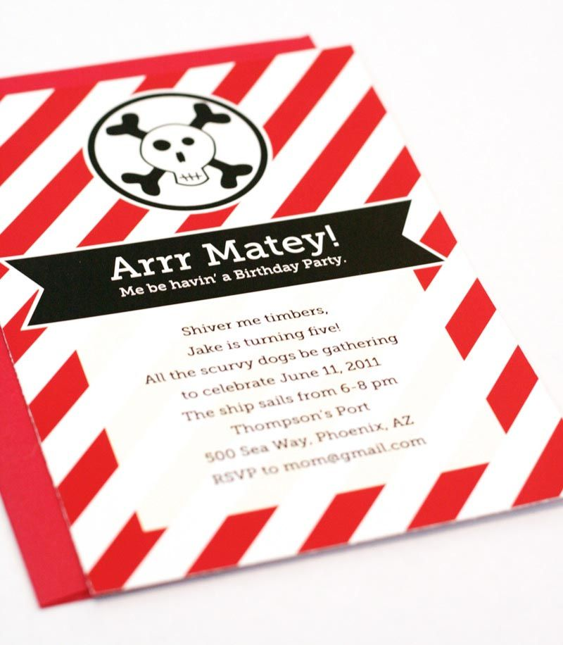 Pirate Party Invitations Templates Free | Pirate Party | Pinterest ...