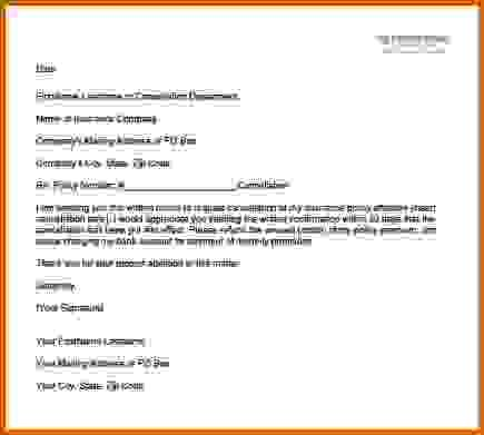 Cancel Policy Sample Insurance Cancellation Letter You Have Local