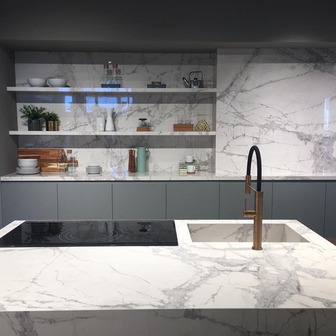 Florim Stone Presents A New Colour Available In 12 And 6 Mm Marble White Comes Kitchencountertops Florim St Kitchen Countertops White Marble Kitchen Marble
